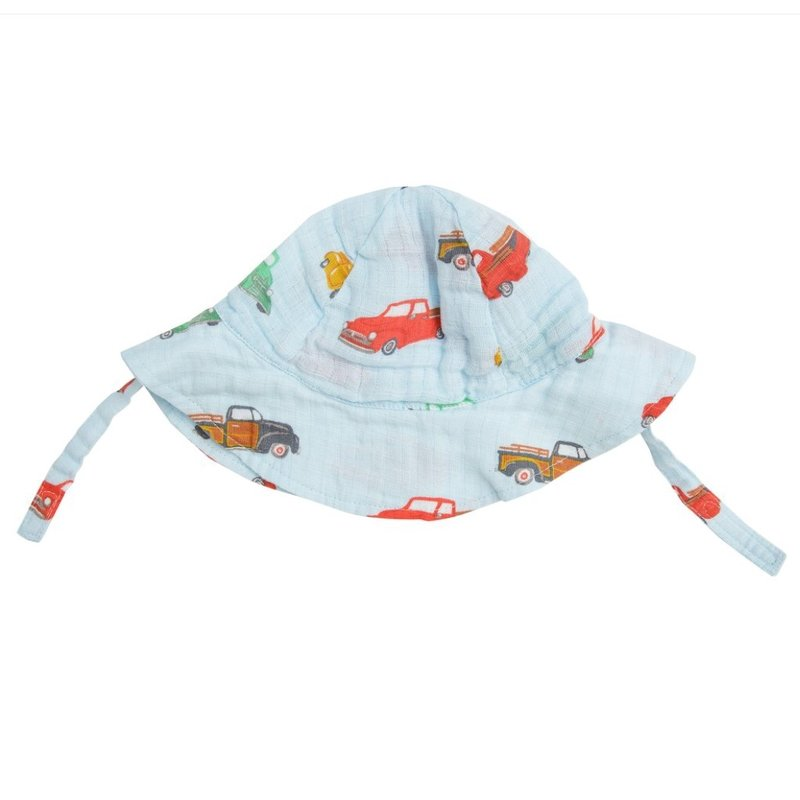 ANGEL DEAR VINTAGE TRUCKS SUNHAT- BLUE