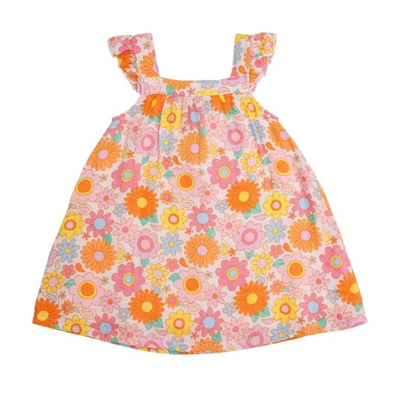 ANGEL DEAR RETRO DAISY SUNDRESS- PETAL PINK