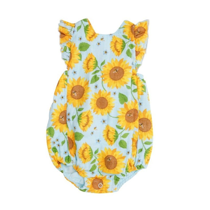 ANGEL DEAR SUNFLOWERS SUNSUIT- WHISPERING BLUE