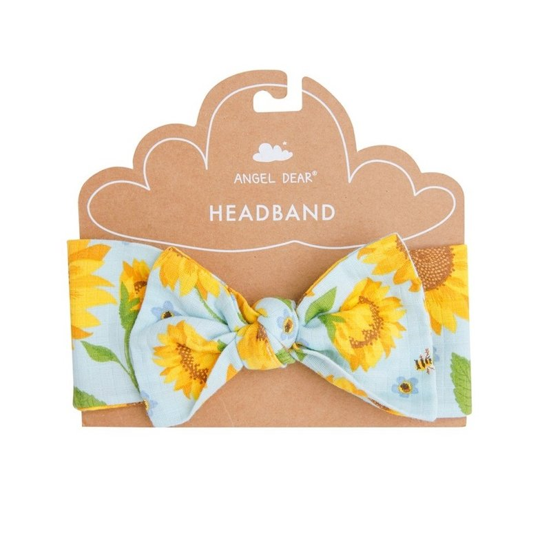ANGEL DEAR SUNFLOWERS HEADBAND- WHISPERING BLUE