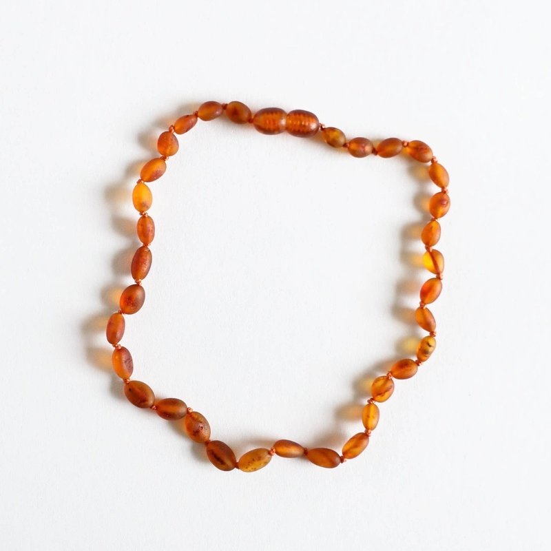 CanyonLeaf CLASSIC AMBER NECKLACE- RAW COGNAC