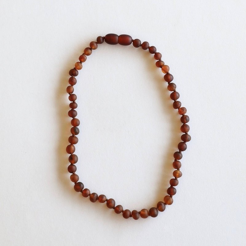 CanyonLeaf RAW COGNAC AMBER NECKLACE