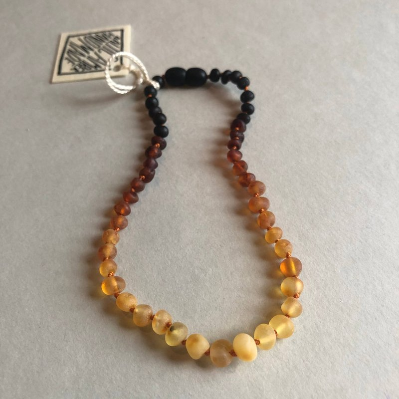 CanyonLeaf RAW OMBRÉ AMBER NECKLACE