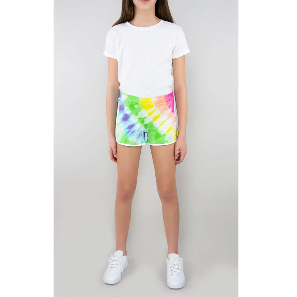 TRACTOR JEANS FRENCH TERRY TIE DYE SHORTS