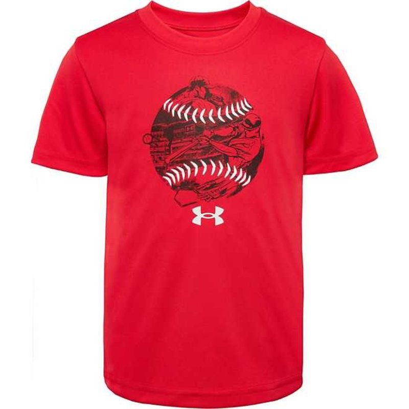 UNDER ARMOUR UA BASEBALL STORY SS- RED