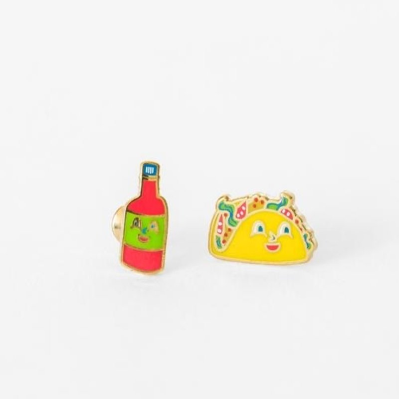 YELLOW OWL WORKSHOP EARRINGS - TACO AND HOT SAUCE