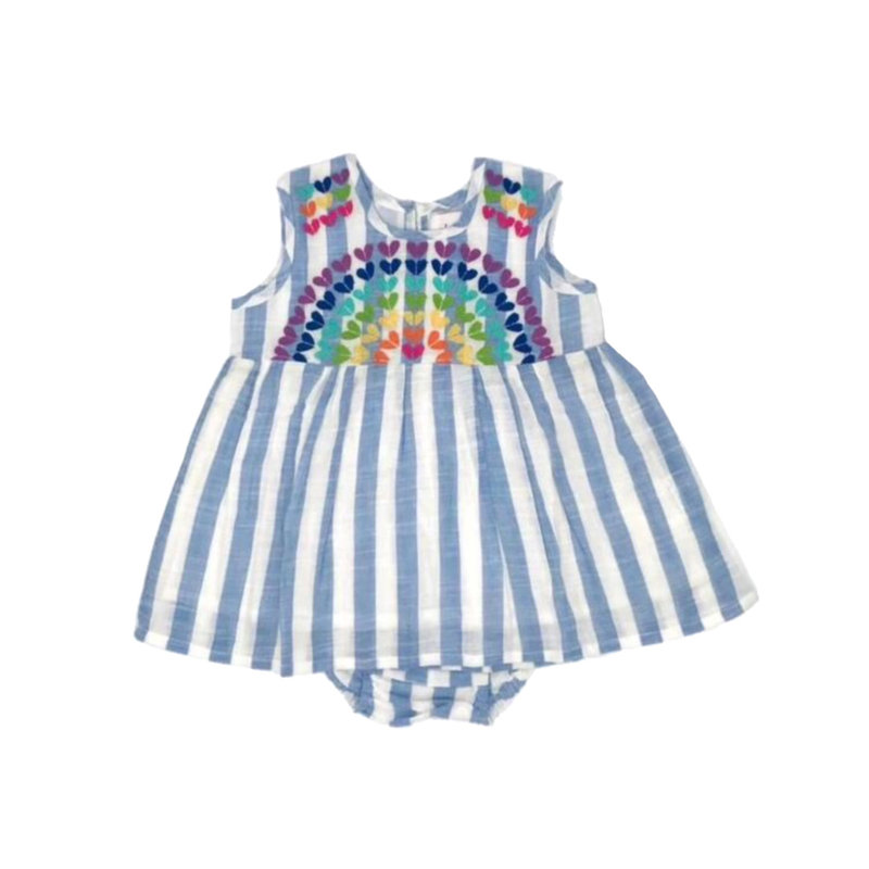 CHEENI RAINBOW SWEETHEART BABY DRESS