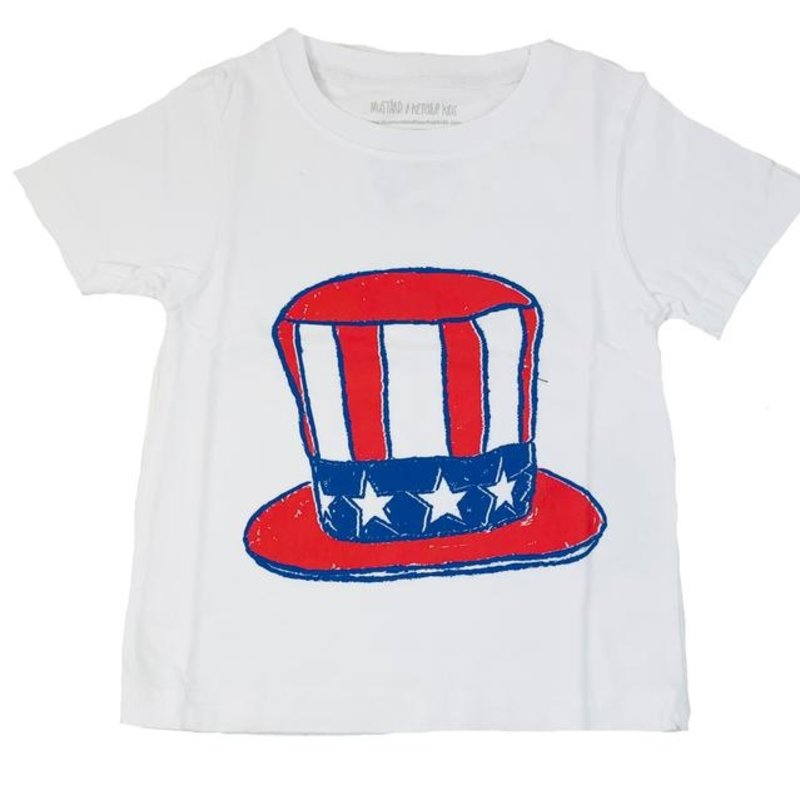 MUSTARD AND KETCHUP KIDS UNCLE SAM HAT TEE