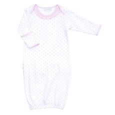 MAGNOLIA BABY GINGHAM DOTS LAP RUFFLE GOWN- PK