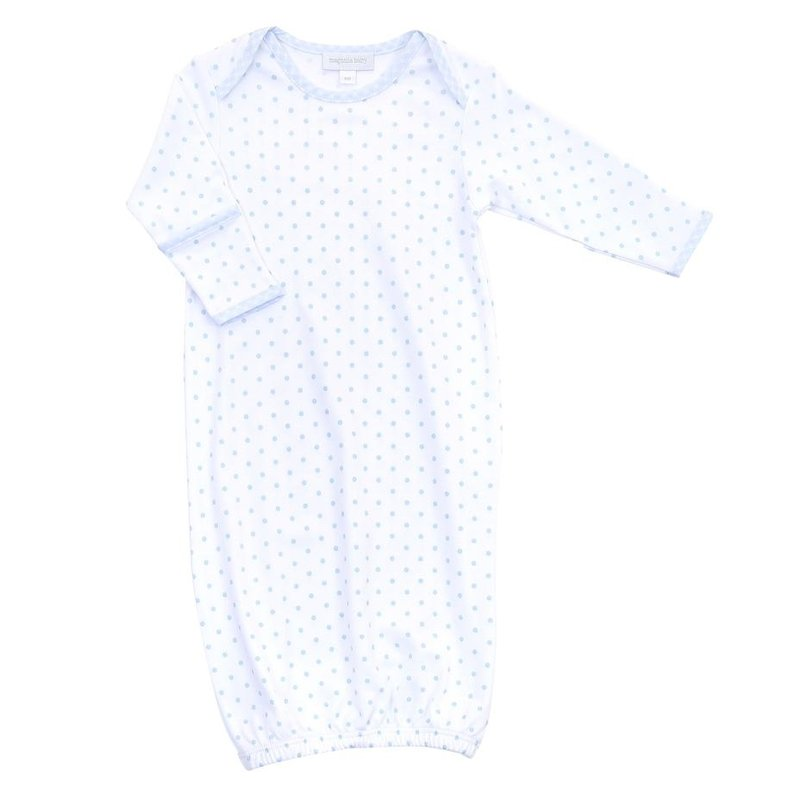 MAGNOLIA BABY GINGHAM DOTS LAP GOWN- LB