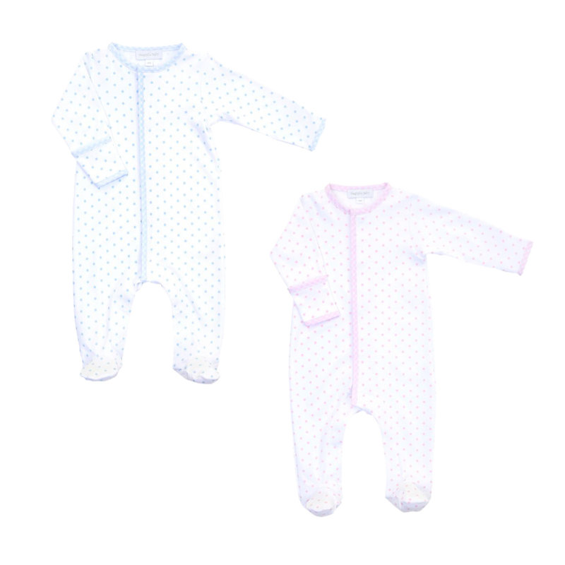MAGNOLIA BABY MINI DOT ESSENTIALS FOOTIE