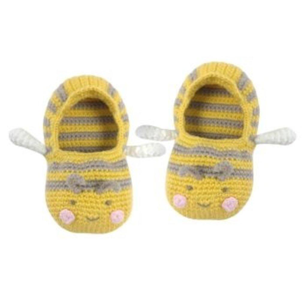 ALBETTA CROCHET BABY BEE BOOTIES