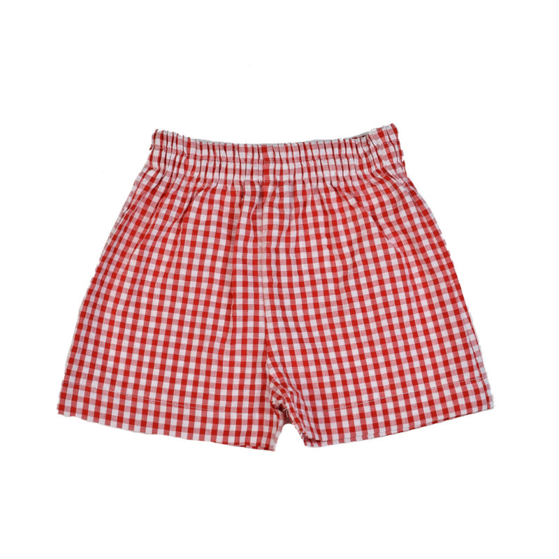 FUNTASIA TOO RED CHECK SHORTS