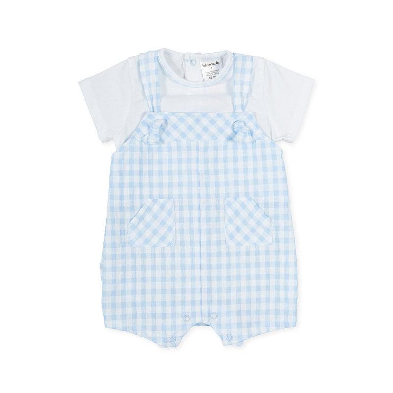 TUTTO PICCOLO BABYGROW- WHITE/SKY BLUE