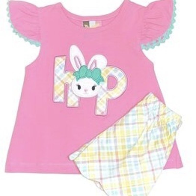 BANANA SPLIT BUNNY HOP APPL A/S SHORT SET