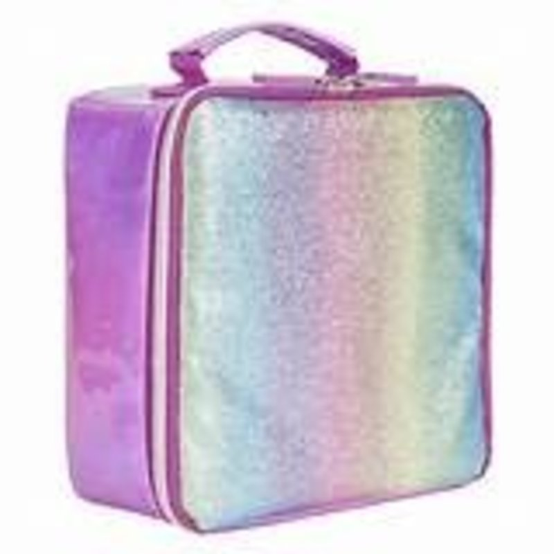 3C4G PINK STRIPED GLITTER LUNCH COOLER