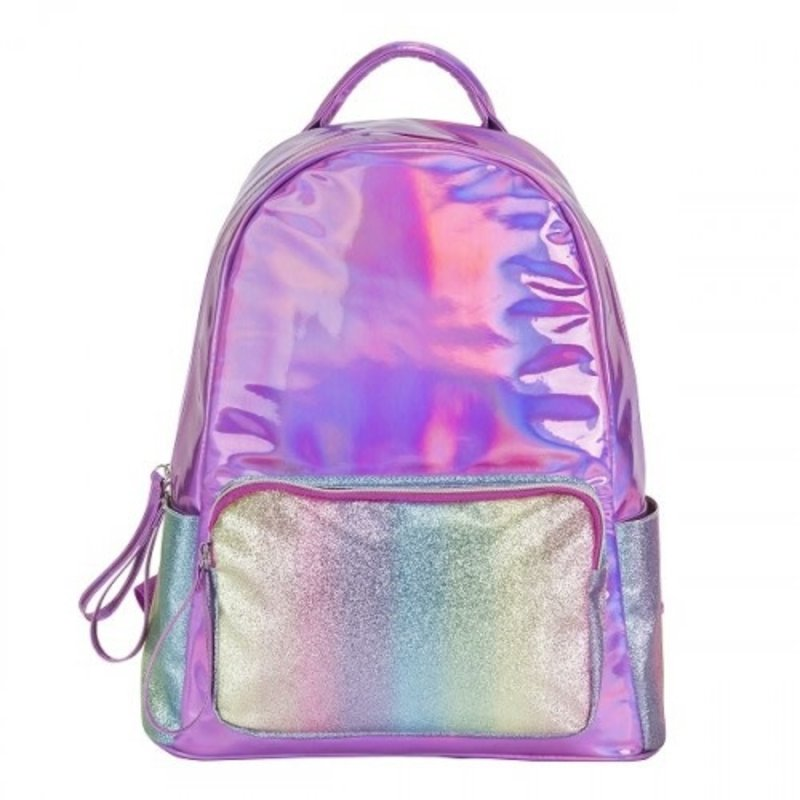 3C4G PINK STRIPED GLITTER BACKPACK