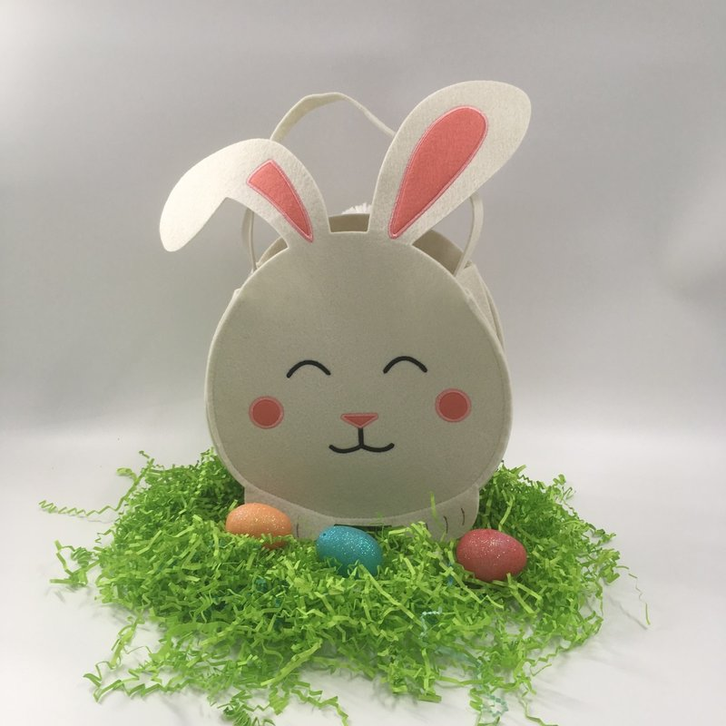 WASTE NOT PAPER BUNNY CIRCLE EASTER BASKET