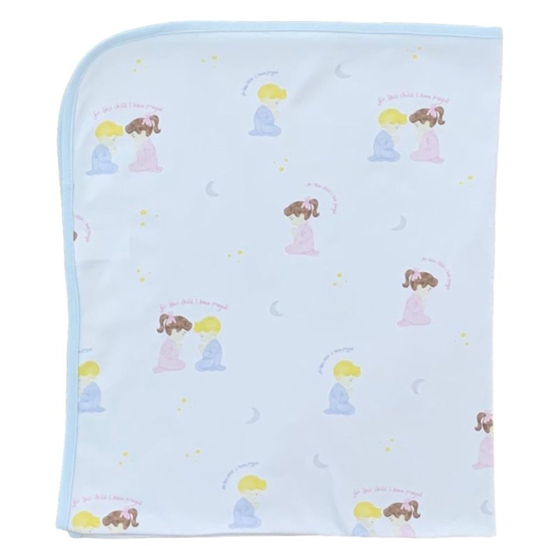 LULLABY SET WHITE BUNDLED UP BLANKET- FOR THIS CHILD I HAVE PRAYED