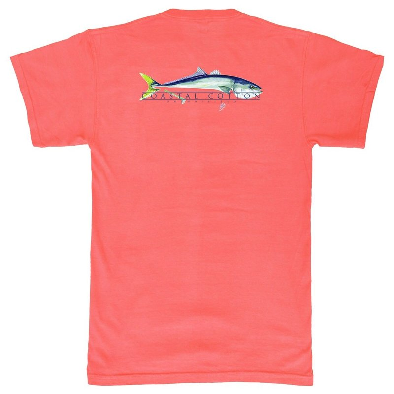 COASTAL COTTON CLOTHING YOUTH RED YELLOWTAIL ISLAND TEE