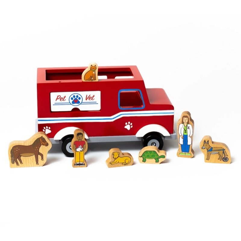 JACK RABBIT CREATIONS MAGNETIC PET VET TRUCK
