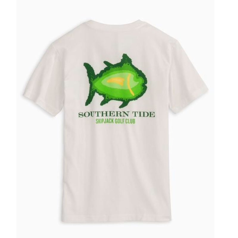 SOUTHERN TIDE Y SS SKIPJACK GOLF CLUB TEE- CLASSIC WHITE