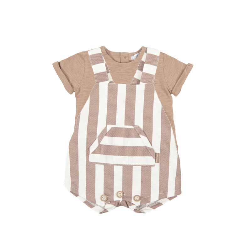 TUTTO PICCOLO T-SHIRT & BUBBLE SET- TAUPE