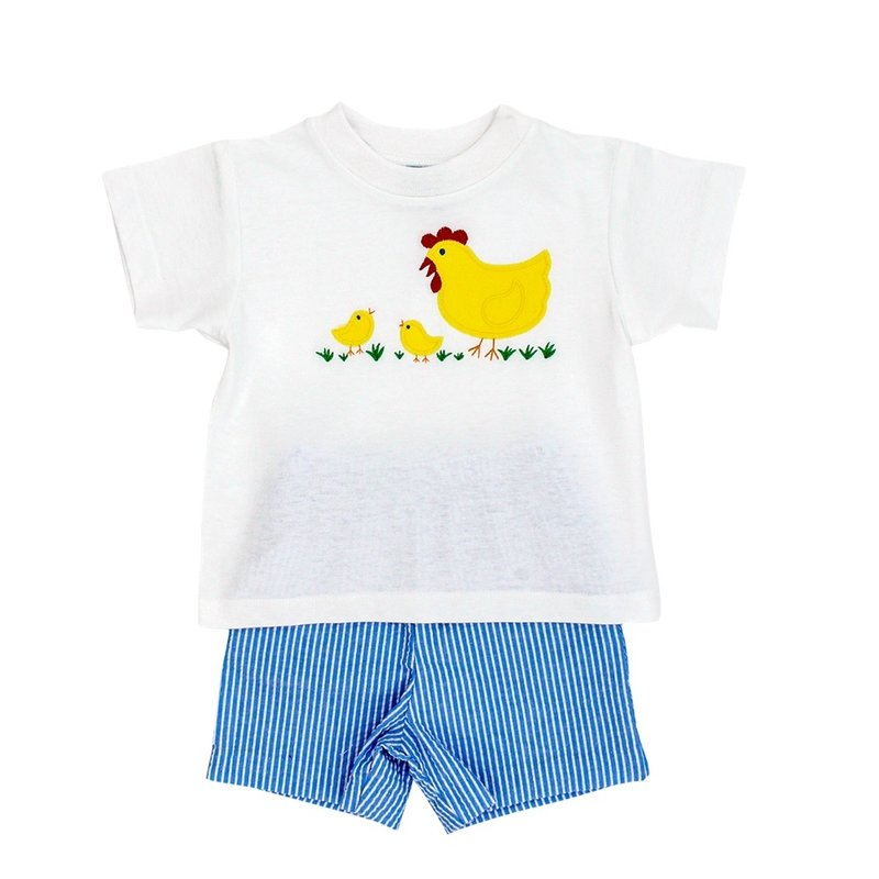BAILEY BOYS MOTHER HEN BOYS SHORT SET