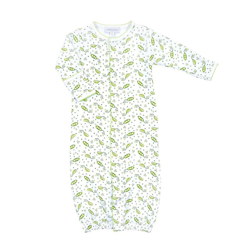 MAGNOLIA BABY TINY SWEET PEA PRINTED CONVERTER GOWN