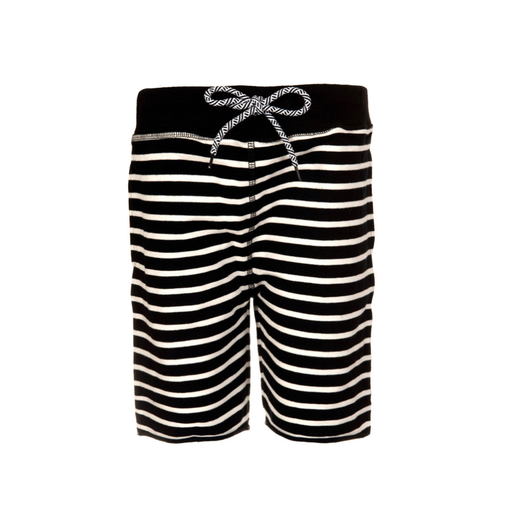 Appaman CAMP SHORTS- BLACK/WHITE STRIPE