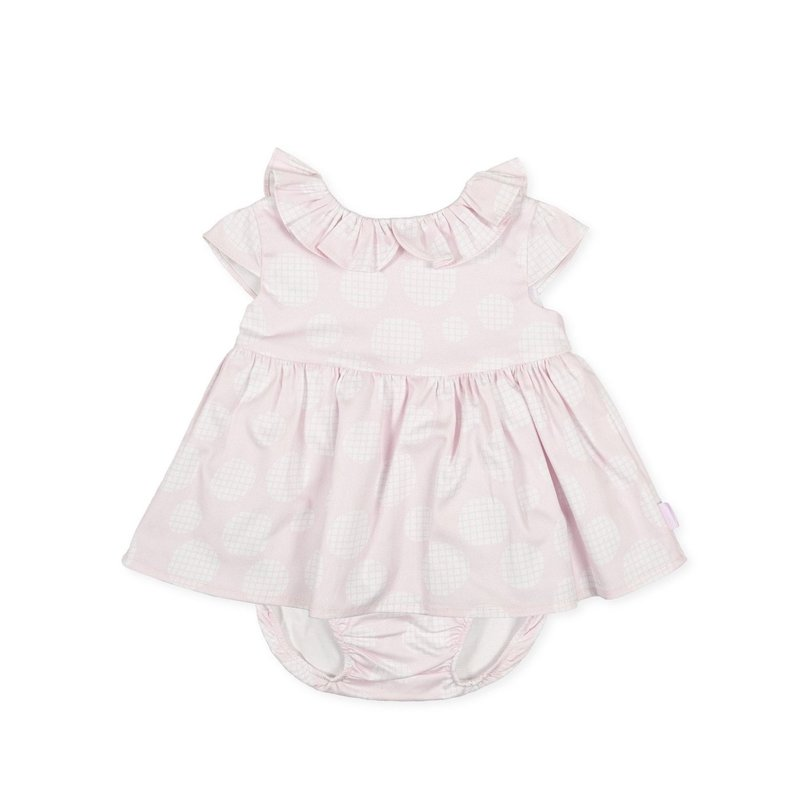 TUTTO PICCOLO DRESS AND BRIEFS- PINK