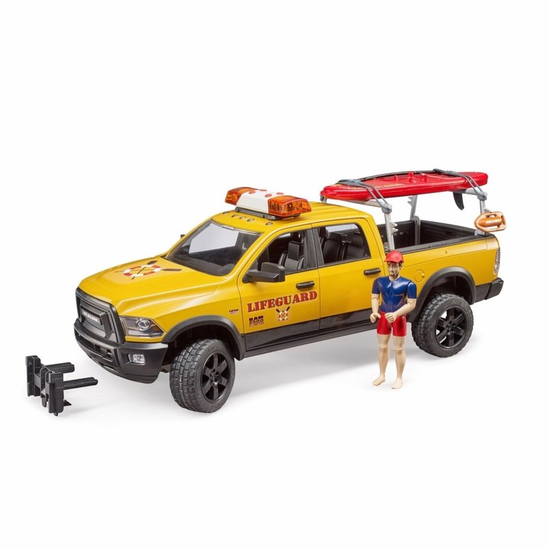 BRUDER RAM LIFE GUARD WITH FIGURE, STAND UP PADDLE + L/S MODULE