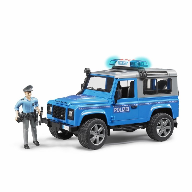 BRUDER LAND ROVER POLICE VEHICLE WITH POLICEMAN