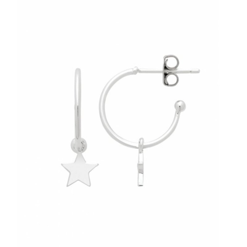 ESTELLA BARTLETT STAR DROP HOOP EARRINGS