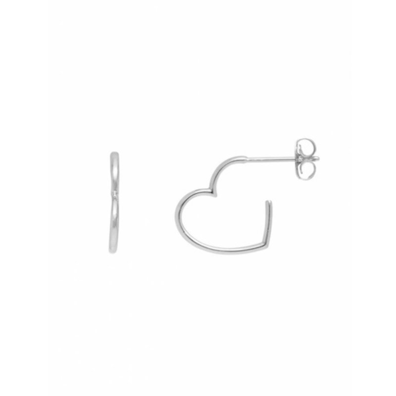 ESTELLA BARTLETT OPEN HEART HOOP EARRINGS