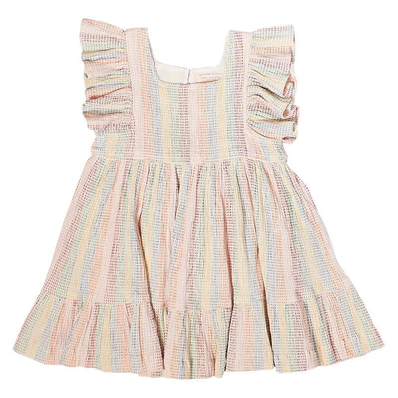 PINK CHICKEN ELSIE DRESS- RAINBOW REPAIR STITCH