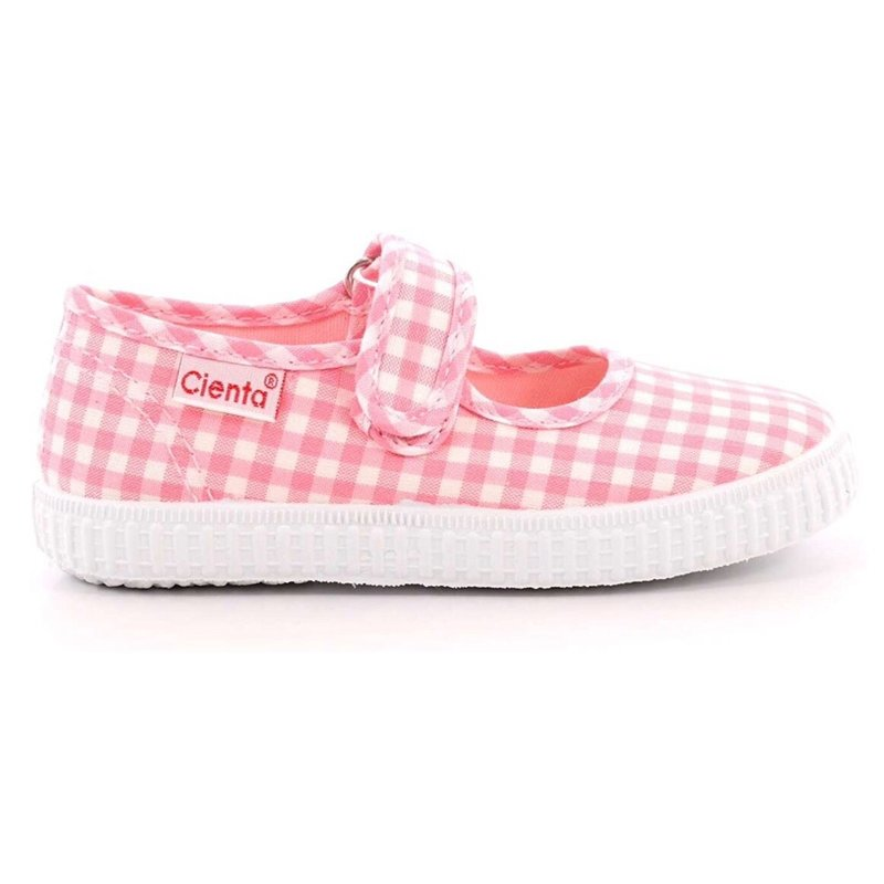CIENTA SHOES MARY JANE- PINK GINGHAM