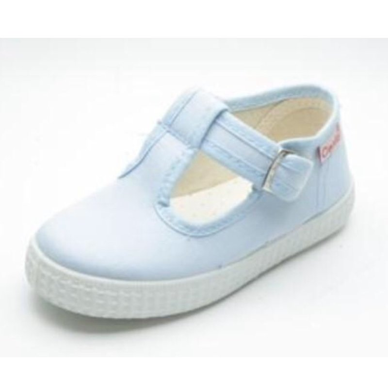 CIENTA SHOES T-STRAP- LIGHT BLUE