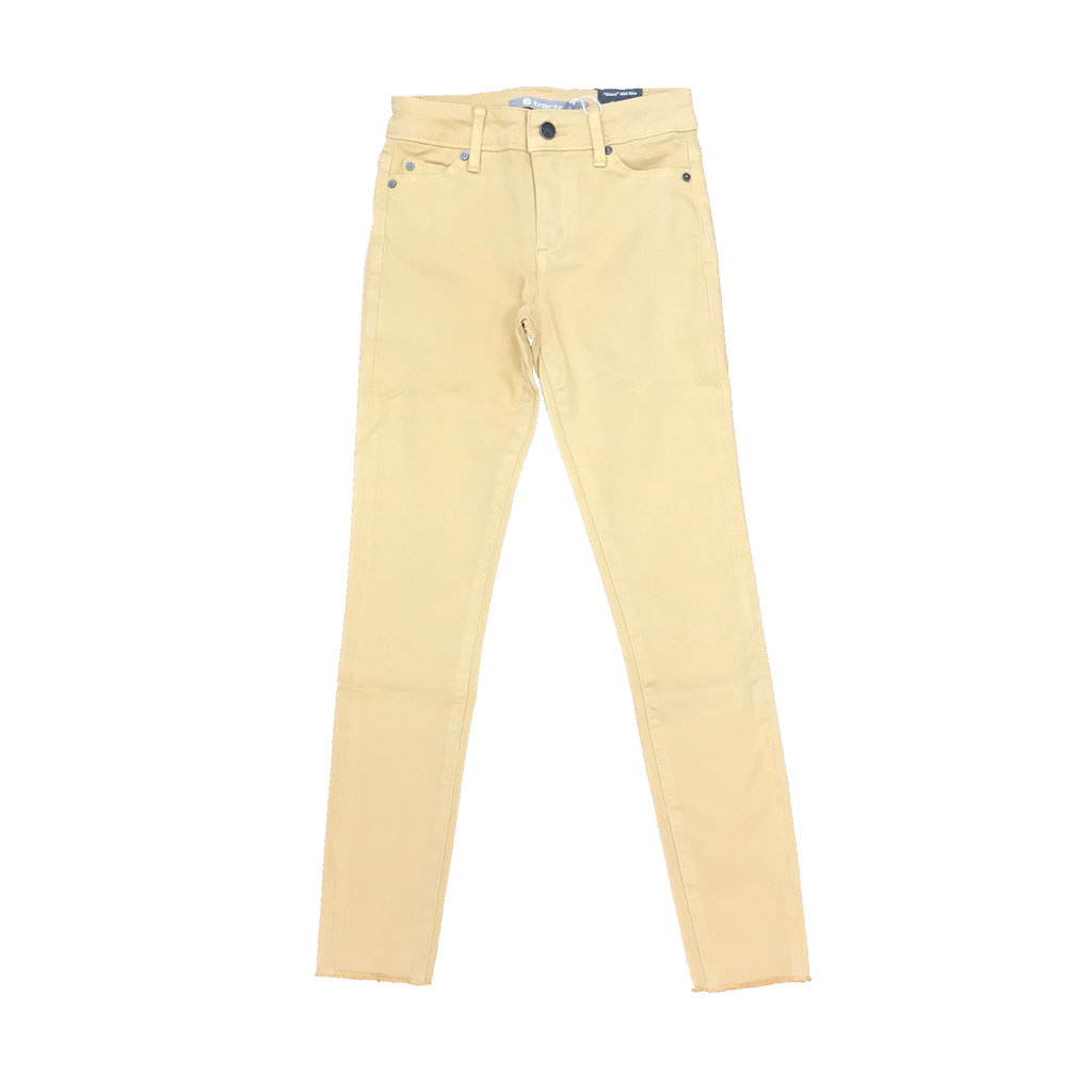 TRACTOR JEANS DIANE MID RISE 5PKT FRAY ANKLE JEANS- TUSSUN