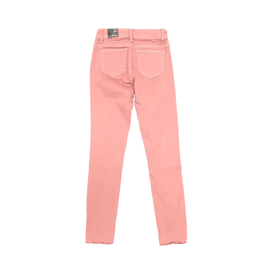 TRACTOR JEANS DIANE MID RISE 5PKT FRAY ANKLE JEANS- ASHROS
