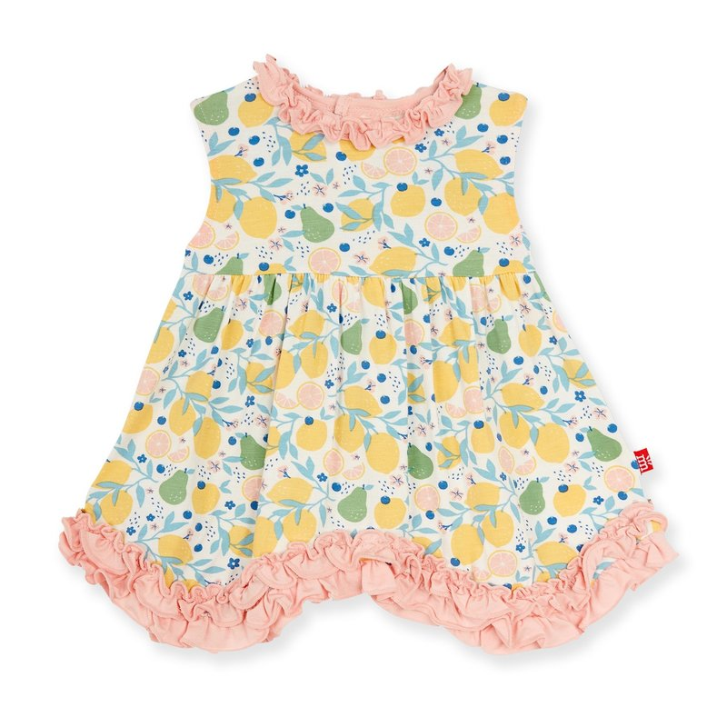 MAGNIFICENT BABY CITRUS BLOOM MODAL MAGNETIC TODDLER DRESS
