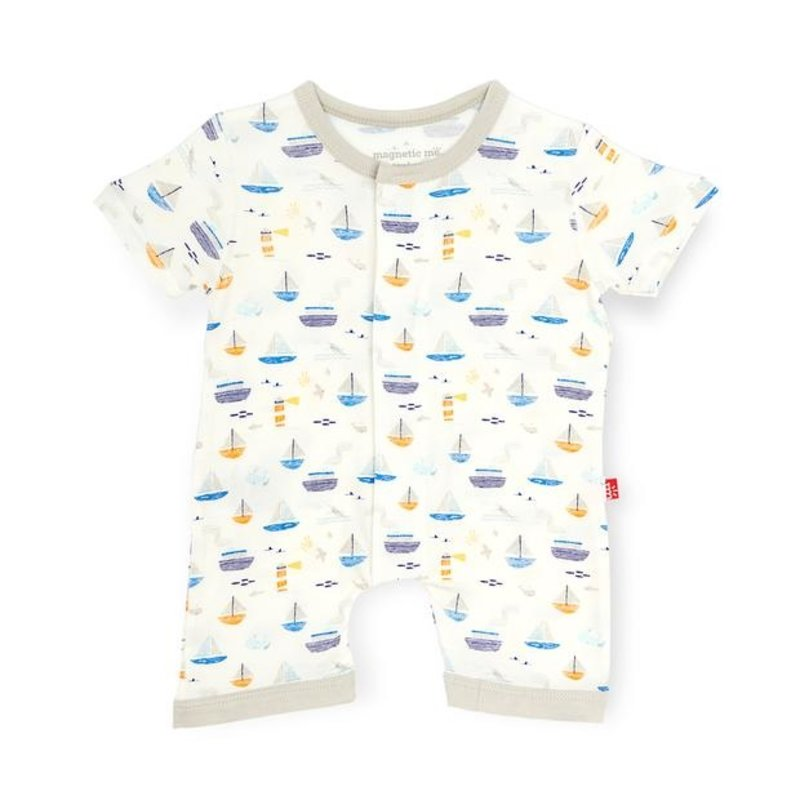MAGNIFICENT BABY MONTEREY BAY MODAL MAGNETIC ROMPER