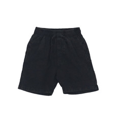 WES AND WILLY FADED FLEECE SHORT- BLACK