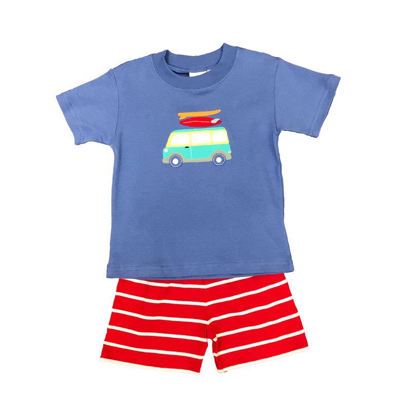 BABY LUIGI SURFING VAN TEE AND BASIC SHORTS