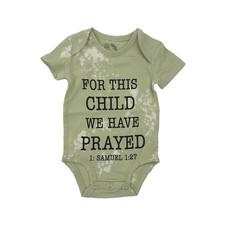 FOR THIS CHILD ONESIE- SEA FOAM
