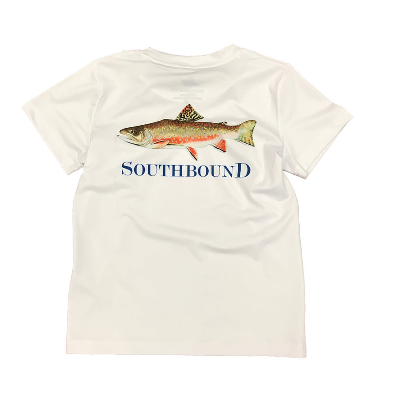 SOUTHBOUND PERFORMANCE TEE- BROWN FISH