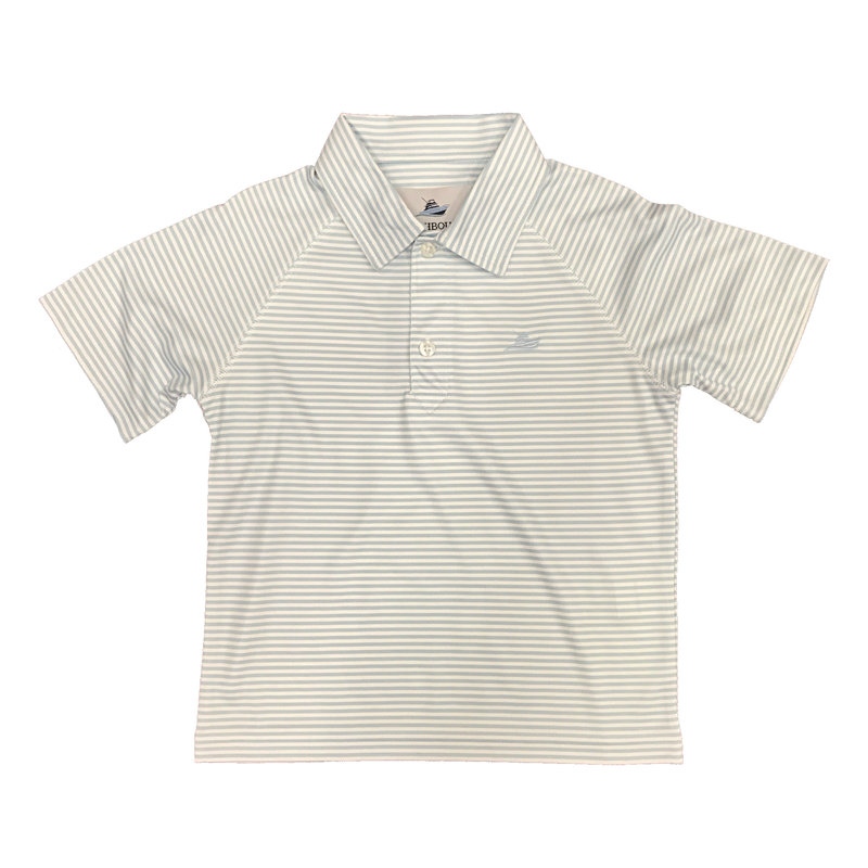 SOUTHBOUND POLO- CRYSTAL BLUE/WHITE