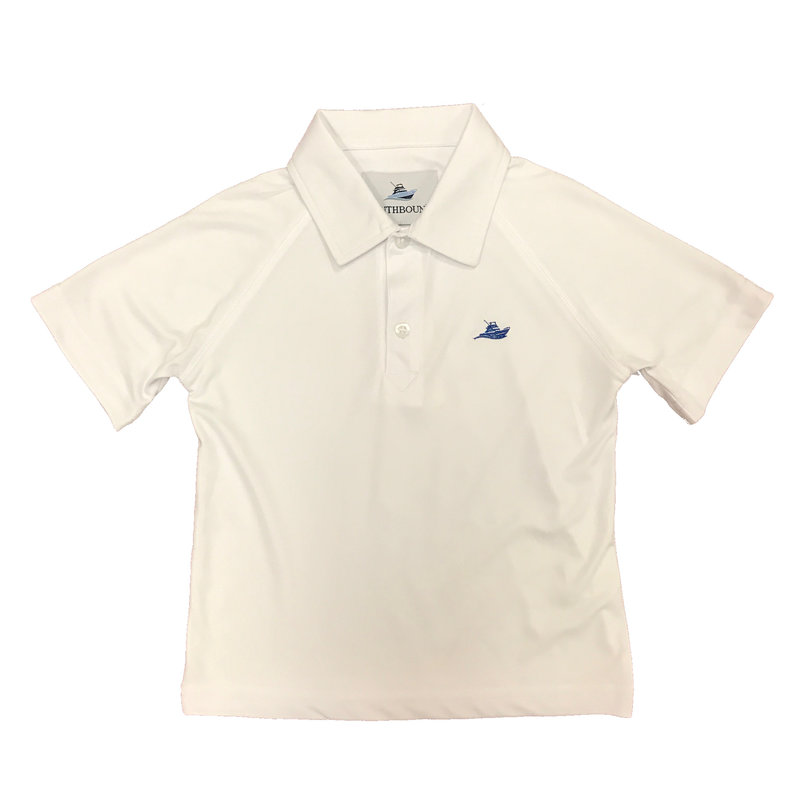 SOUTHBOUND POLO- SOLID WHITE