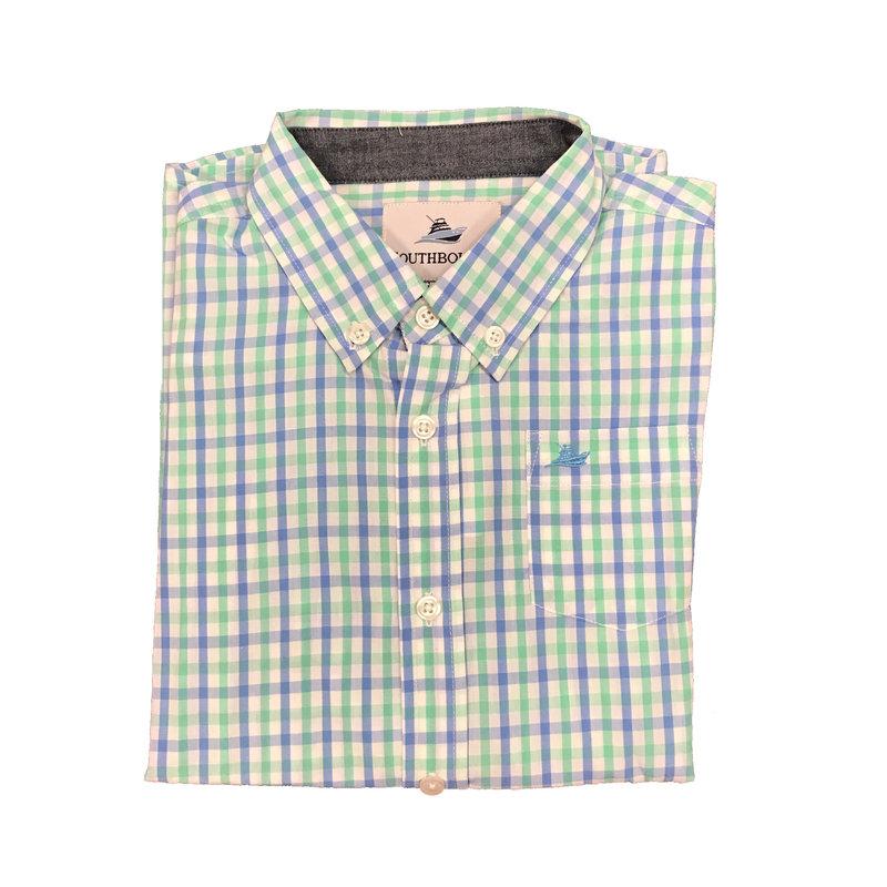 SOUTHBOUND LS DRESS SHIRT- BLUE/OPAL