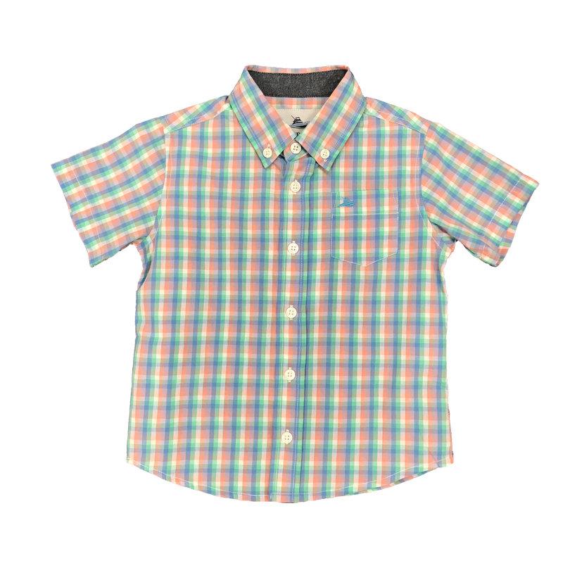 SOUTHBOUND SS DRESS SHIRT- OPAL/PEACH/BLUE